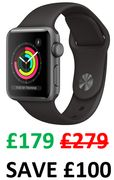 £100 OFF! Apple Watch Series 3 (GPS, 38mm) at Amazon