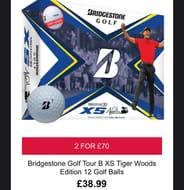 Bridgestone Golf Tour B XS Tiger Woods Edition 12 Golf Balls £38.99