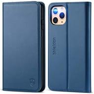 SHIELDON iPhone 11 Pro Max Case, Genuine Leathe Phone Case