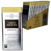 15 X Green & Blacks White Cooking Chocolate 150g Organic Bars