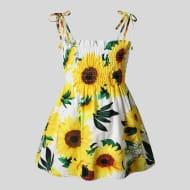 Baby Sunflower Strappy Dress