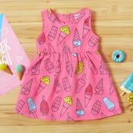 Baby / Toddler Ice Cream Print Sleeveless Dress
