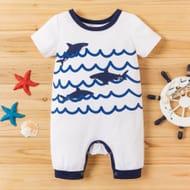Baby Shark Print Bodysuit