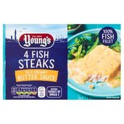 Young's 4 Fish Steaks in Butter Sauce 4 X 140g