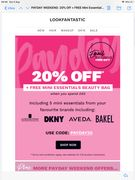 20% off & Free Mini Essentials Beauty Bag When You Spend £65 with Code PAYDAY20