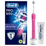 Oral-B Pro 650 3D White Electric Rechargeable Toothbrush