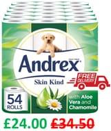 ANDREX DEAL - 54 Andrex Skin Kind Toilet Rolls - AMAZON BESTSELLER