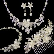 Beatrice Complete Wedding Jewellery Set (Silver) HALF PRICE