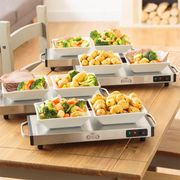 Giles & Posner Cordless Hot Plate (40 X 20cm - Silver)