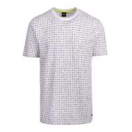 BOSS Casual Mens White Tepol Printed S/s T Shirt