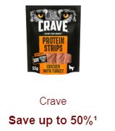 Crave Pet Food save up to 50%