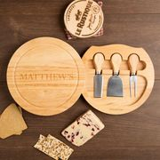 Personalised Established on Circular Cheese Board Gift Set -