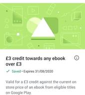 £3 towards an Ebook
