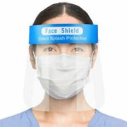 Face Shield Full Face Visor Protection Mask PPE Shield Clear Plastic X 12
