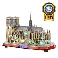 LED CubicFun 3D Puzzles Notre Dame De Paris-Architecture Model