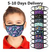 10pcs Kid's Children's Double Layer Face Covering