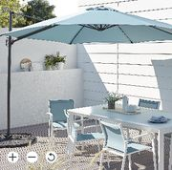 Mallorca Blue Parasol - HALF PRICE!