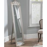 Full Length Mirror in Silver the Elizabeth Floor Standing Mirror