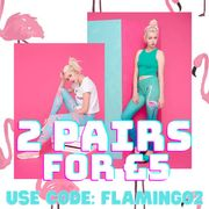 Get Two Pairs of Flamingo Leggings for £5!