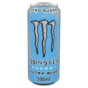 Monster Energy Zero Sugar Ultra Blue 500ml 2 for £1.50 at ClearanceXL