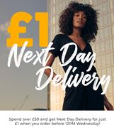 £1 next Day Delivery on Orders of £50