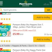 Morrisons Pampers £5.99