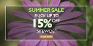 15% off - Sitewide Summer Sale