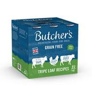 Butcher's Tripe Loaf Recipes Dog Food Tins 18x400g