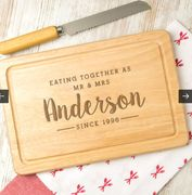 Personalised 'Eating Together Since' Wooden Serving Board