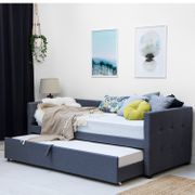 Holyrood Grey Fabric Sofa Bed & Pull out Guest Bed