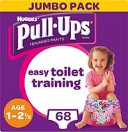 Huggies Pull-Ups Girl's Potty Training Pants, 1-2.5 Years, (68 Pants)