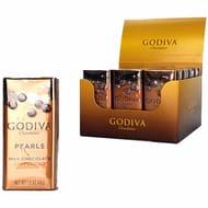 18 X Godiva Chocolatier Milk Chocolate Cappuccino Pearls 43g Tins