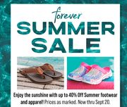 Save up to 40% during the FOREVER SUMMER Sale!