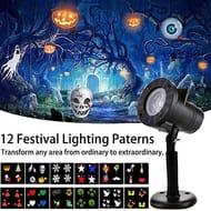 Halloween/Christmas Projector 12 LED Lights