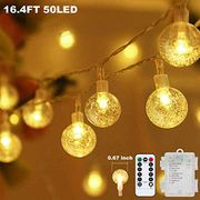 Price Drop! Globe String Lights Battery Operated 16.4ft 50LED