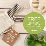Spend over £30 on Eco Range Products & Get a Set of Stainless Steel Straws Free