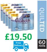 60 Cusheen Luxury 3 Ply Toilet Rolls (33p a Roll) FREE DELIVERY