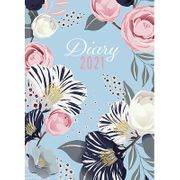 A5 Floral 2021 Day a Page Diary £5.39 Delivered
