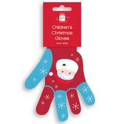 Christmas Childrens Gloves Santa