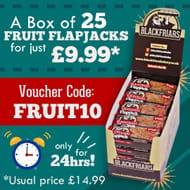 A Box of 25 Fruit Flapjacks