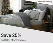 Argos - 25% Off 1000's Of Home, Storage, Lighting, Rugs & Bedding