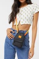Herschel Supply Co. Nova Mini Backpack Cross Body Bag in Black and Orange
