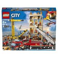LEGO 60216 City Downtown Fire Brigade Crane Truck Copter Set