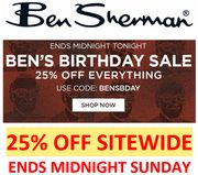 Ben Sherman - 25% off Everything Sitewide Today