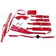 Bondara Red Faux Leather Bondage Set
