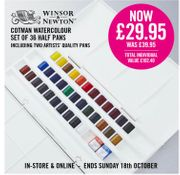 Save £10 on the Exclusive Cass Art Cotman Watercolour Set Today!