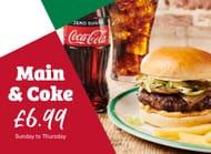 Main & Coke £6.99 - Pizza, Pasta, Salads, Burgers, Sandwiches & Wraps