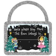 Magical Christmas Door Sign in Silver