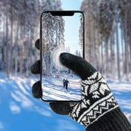 SmartTips Premium Unisex Touchscreen Gloves - Black