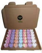FREE DELIVERY! BARGAIN!42 Bath Bomb Hearts Mixed Scents 10g